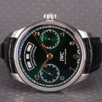 IWC Portuguese Annual Calendar Steel 44.2mm Green