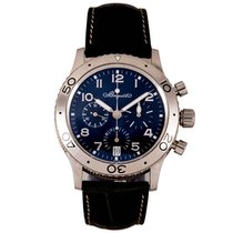 Breguet White gold Automatic Blue 39.5mm pre-owned Type XX - XXI - XXII