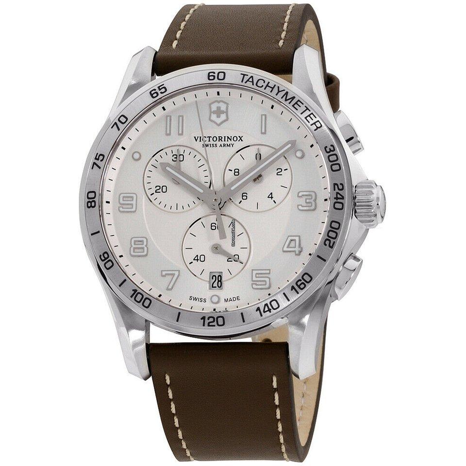 Victorinox Swiss Army Chrono Classic Quartz Movement Silver Dial Men's Watch 241654.2