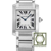 Cartier Tank Française new 2019 Quartz Watch with original box and original papers WSTA0005
