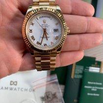 Rolex Day-Date II Gult guld 41mm Hvid Romertal Danmark, Aarhus C