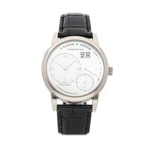 A. Lange & Söhne Lange 1 pre-owned 38.5mm White Date Crocodile skin