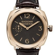 Panerai Rose gold Manual winding Brown Arabic numerals 47mm new Special Editions