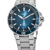 Oris Aquis Date Steel No numerals United States of America, New York, Brooklyn