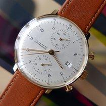 Junghans max bill Chronoscope Staal 40mm Zilver Arabisch