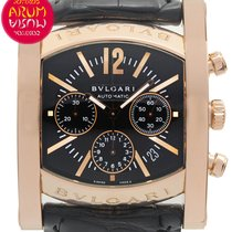 Bulgari Rose gold Automatic Black 38mm pre-owned Assioma