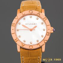 Bulgari 18K Rose Gold  Automatic  MOP dial Diamonds 33mm NEW