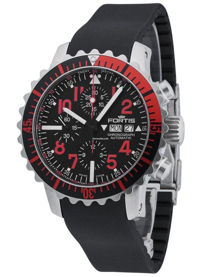 Aquatis Marinemaster 671 23 Fortis 43 Red K Chronograph redBxWCo