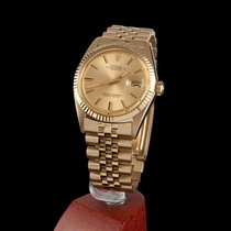 Rolex Oyster Perpetual Datejust Yellow Gold Jubile Men Size