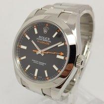 Rolex Milgauss Mens 40mm Watch Full Set 2011