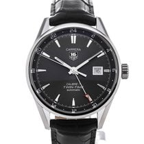 TAG Heuer Carrera Twin-Time Automatic 41mm Anthracite Dial...