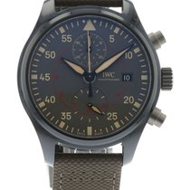 萬國 Pilot's Chronograph IW3890-02 Watch with Leather, Nylon...