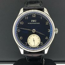 IWC Silver Manual winding Black Arabic numerals 44mm pre-owned Portuguese Hand-Wound