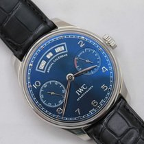IWC Portuguese Annual Calendar Steel 44.2mm Blue Arabic numerals United States of America, Texas, Sugar Land