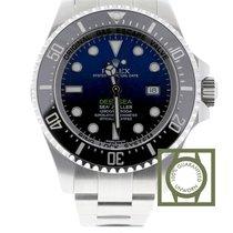 Rolex Chronomètre 44mm Remontage automatique 2016 nouveau Sea-Dweller Deepsea Bleu