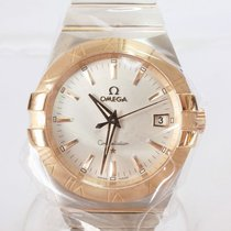 Omega Constellation Quartz Zlato/Zeljezo 35mm Srebro