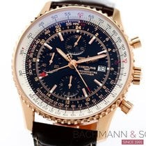 Breitling Navitimer World Rose gold 45.5mm Black No numerals