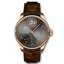 IWC Portuguese Tourbillon Rose gold 44.2mm Grey Arabic numerals United States of America, Iowa, Des Moines