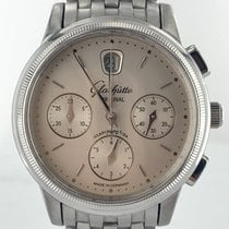 Glashütte Original Senator Chronograph pre-owned 39mm Silver Chronograph Date Steel