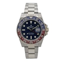 Rolex White gold Automatic Blue No numerals 40mm new GMT-Master