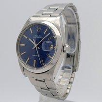 Rolex Oyster Precision Acél 35mm Kék Számjegyek nélkül