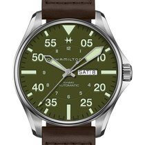 Hamilton Khaki Pilot Steel 46mm Green