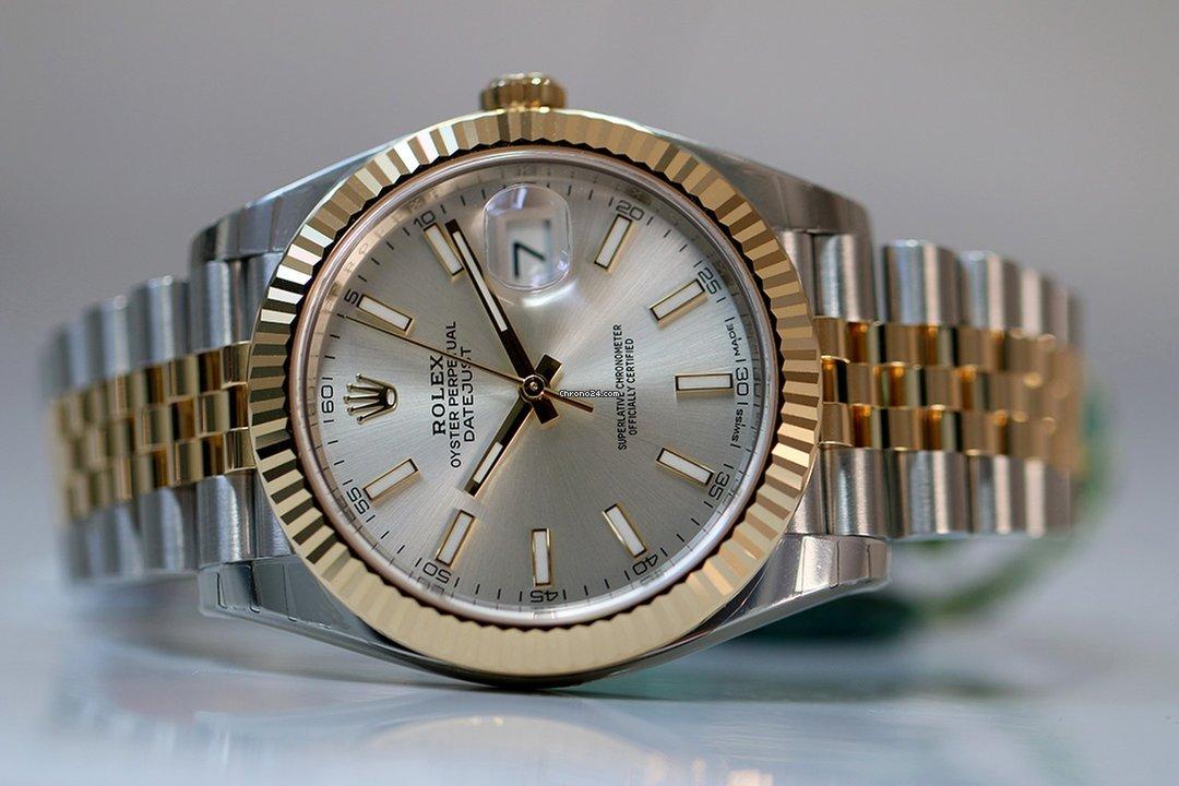 Rolex OYSTER PERPETUAL DATEJUST 41 mm silver dial 2018 à vendre pour 10.300  \u20ac par un Trusted Seller sur Chrono24
