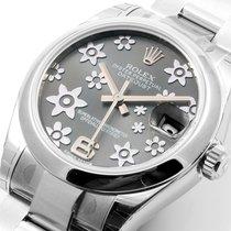 Rolex SS 31mm Datejust Rhodium Floral dial 178274 Model Unworn