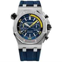 Audemars Piguet Steel Automatic Blue 42mm new Royal Oak Offshore Diver Chronograph