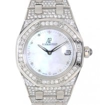 愛彼 Royal Oak Lady 67602bc.zz.1212bc.01 White Gold Diamonds 33mm