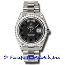 Rolex Day-Date II White gold 41mm Black Arabic numerals United States of America, California, Newport Beach