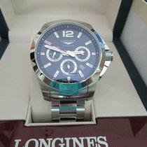 Longines Conquest L3.801.4.96.6 Longines  CONQUEST Automatico Acciaio Blu 44mm new