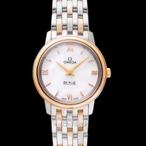 Omega Red gold Quartz Mother of pearl 27.4mm new De Ville Prestige