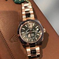 Rolex Sky-Dweller Pозовое золото 42mm Коричневый Римские