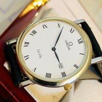 Omega De Ville Mens 32mm Roman Numerals Dial Gold Steel watch