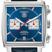 TAG Heuer Monaco Calibre 12 new Automatic Chronograph Watch with original box CAW2111-FC6183
