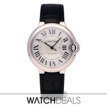 Cartier Ballon Bleu 36mm Oro blanco 36mm Plata Romanos