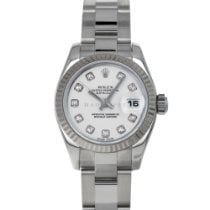 Rolex Lady-Datejust pre-owned 26mm White Date Steel
