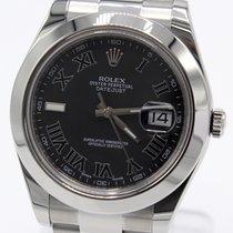 Rolex Datejust II Steel 41mm Black Roman numerals