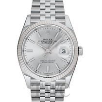 Rolex White gold Automatic Silver 36mm new Lady-Datejust