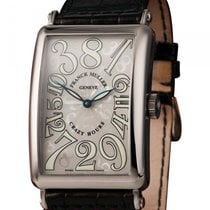 Franck Muller White gold Automatic Silver (solid) 32.5mm new Crazy Hours