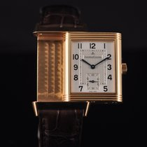 Jaeger-LeCoultre Or rose Remontage automatique Argent Arabes 25mm occasion Reverso Grande Taille