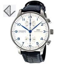IWC Portogueser Chronograph Silver Arabic Dial - Iw371446