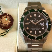 Rolex Submariner Black Dial and Green Bezel 16610 NEW