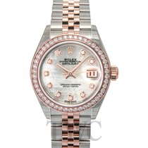 Rolex Lady-Datejust 28 White MOP Steel/18k Everose Gold Dia...