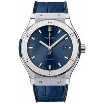 Hublot Classic Fusion Blue Titanium 42mm Blue No numerals UAE, Dubai