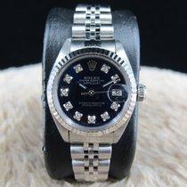 勞力士 DATE Ladies 6917 SS Blue Diamond Dial with Solid Jubilee Band