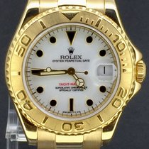 Rolex Yacht-Master Yellow Gold 35MM,White Dial PAPERS 1998