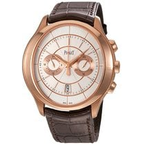 Piaget Gouverneur Rose gold 43mm Silver No numerals United States of America, New York, New York