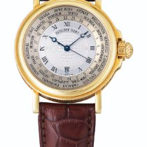 Breguet Ref 3700 Yellow Gold world Time Wristwatch With Date...